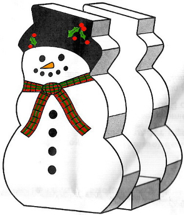 Snowman Napkin Holder plans