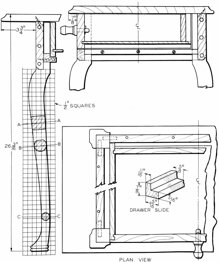 Wood work cabriole leg pattern pdf plans for Queen anne leg template